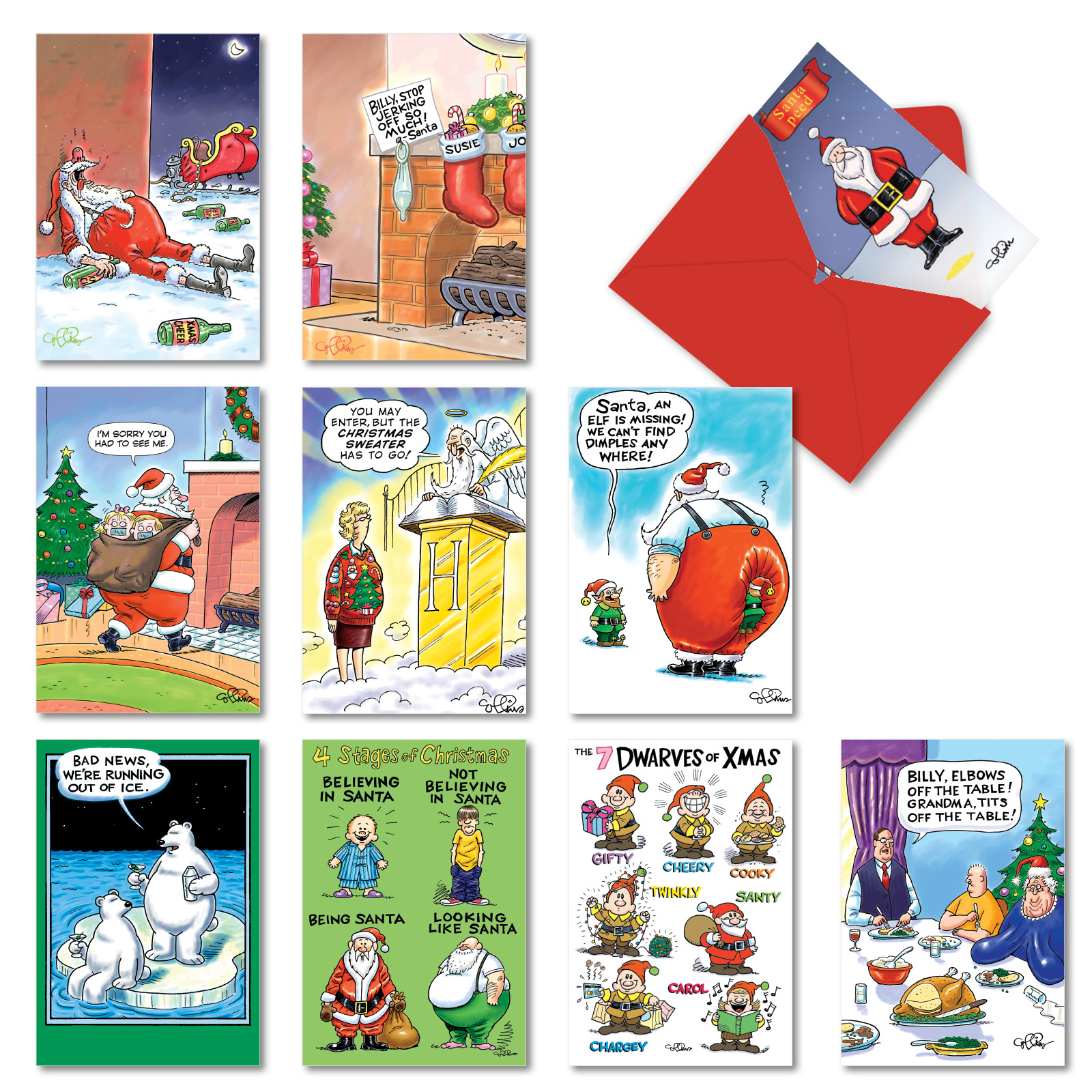 A Morning After Assorted Box Of  Hilarious Christmas Cards W  Envelope Ebay