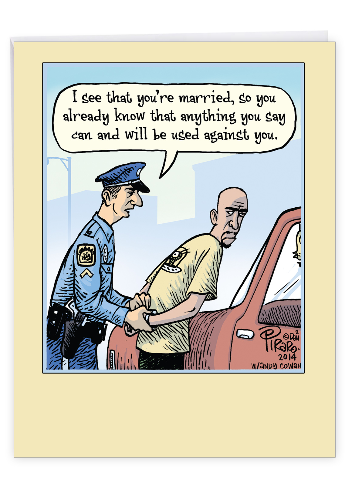 J9774 Jumbo Funny Anniversary Card Married Arrest With