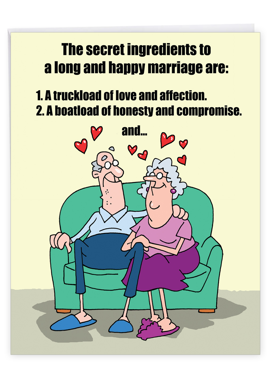 J9780 Jumbo Funny Anniversary Card Marriage Secrets With
