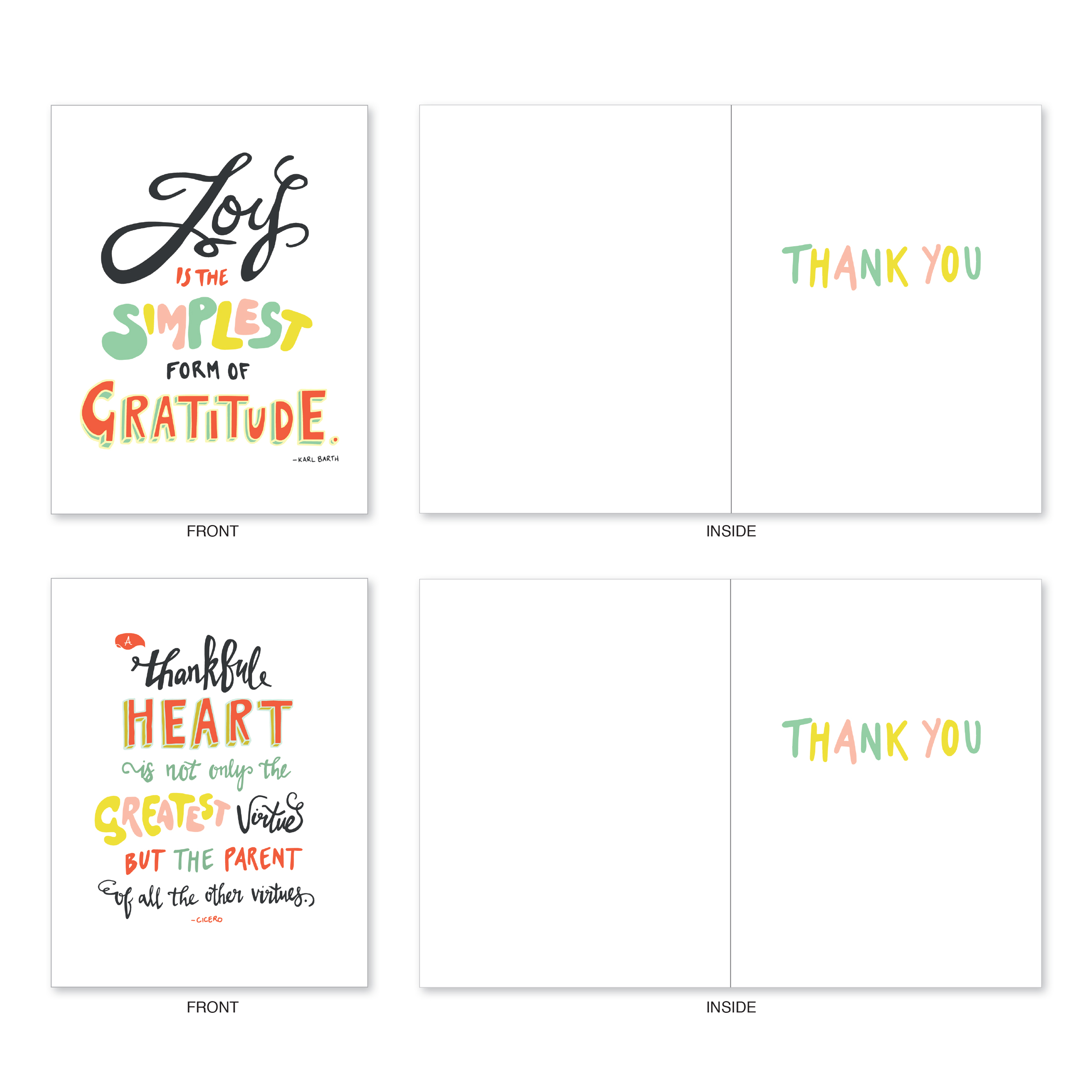 m9633tyg words of appreciation 10 assorted thank you note cards